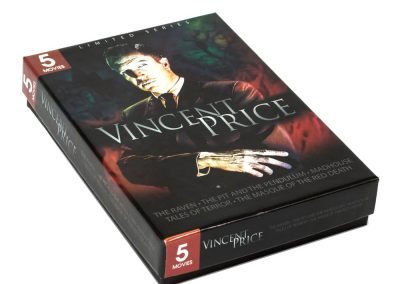 5 Movies DVD Paperboard Box Vincent Price